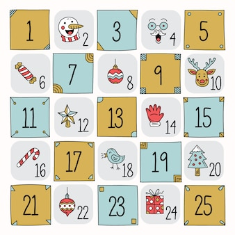 Advent kalender hand getrokken