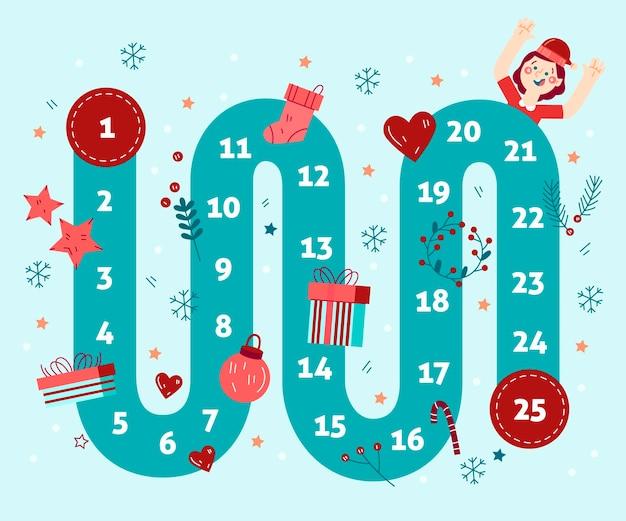 Adventkalender hand getekende illustraties