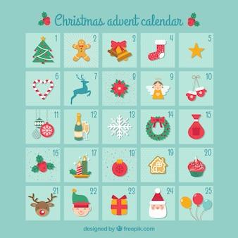 Adventskalender met kerstmisdecoratie