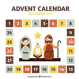 Adventskalender met kerststal