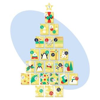 Adventskalender voor kerstmis