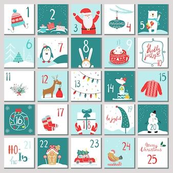 Adventskalender voor opening op feestdagen