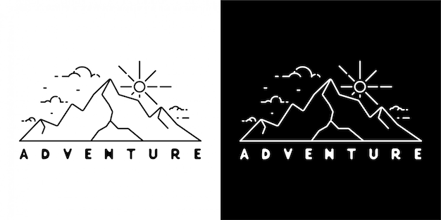 Adventure badge-ontwerp