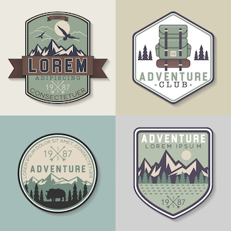 Adventure badges collectie