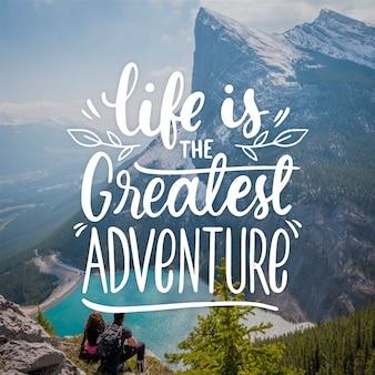 Adventure belettering concept