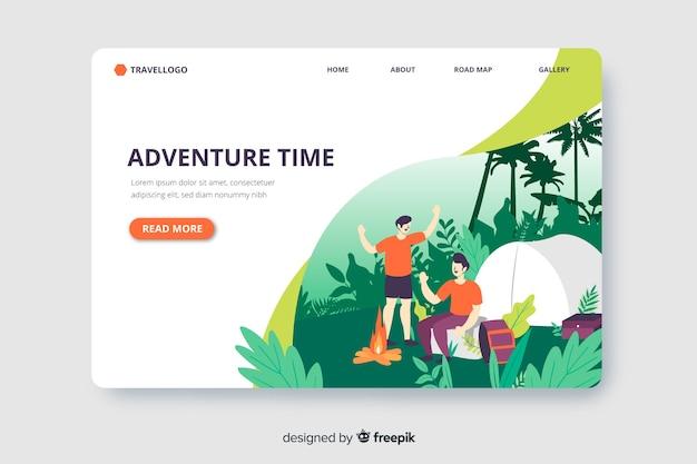 Adventure in jungle landingspagina