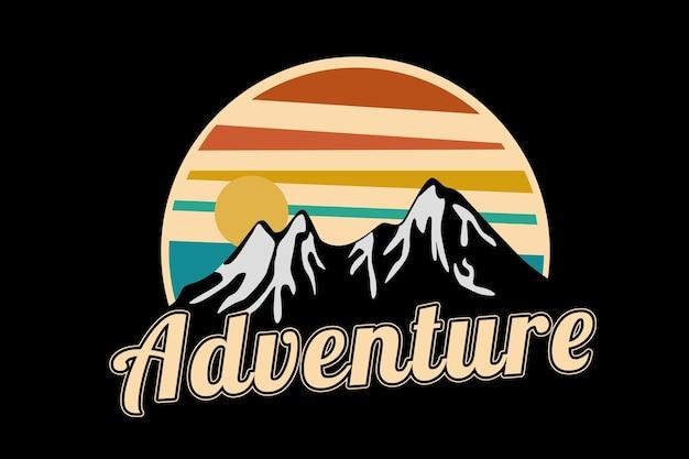 Adventure kleur oranje geel en groen