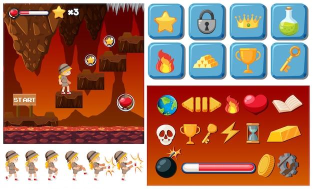 Adventure lava game sjabloon
