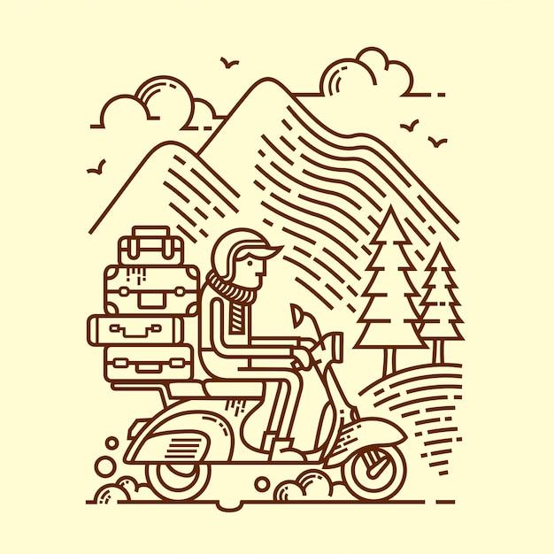 Adventure lijn illustratie