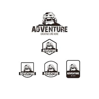 Adventure-logo ingesteld