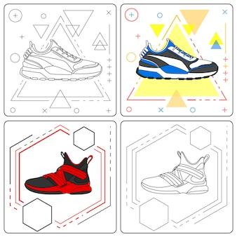 Adventure sneakers gemakkelijk bewerkbaar