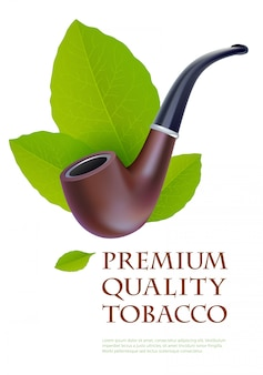 Advertentie afdruksjabloon voor premium tabaksproducten.