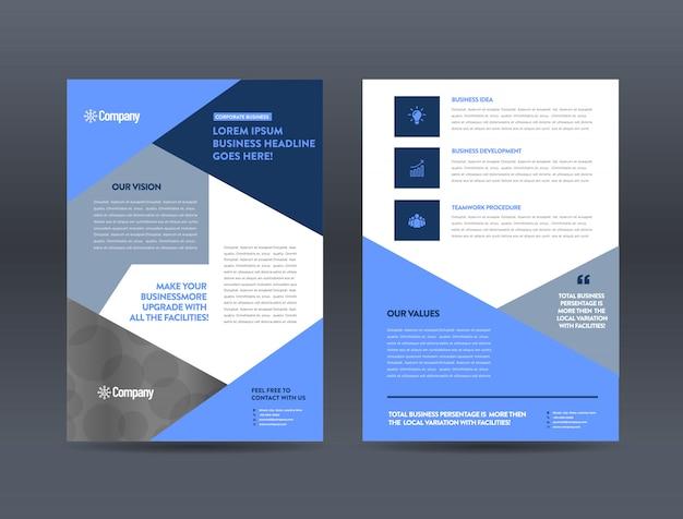 Advertentie brochure sjabloon
