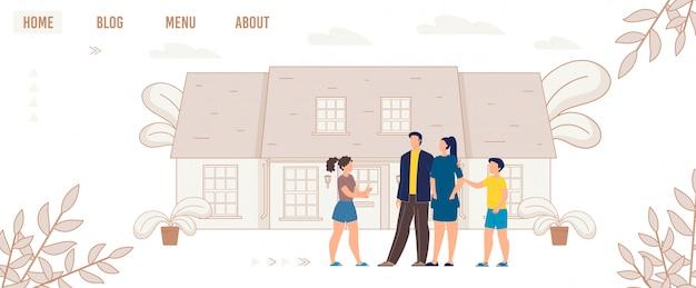 Advertentie flyer leuke tijd voor familie cartoon.