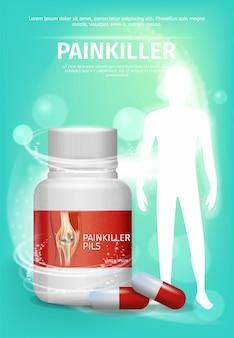 Advertentie verpakking pijnstiller
