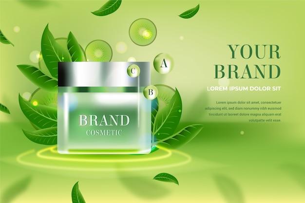 Advertentie voor cosmetische producten