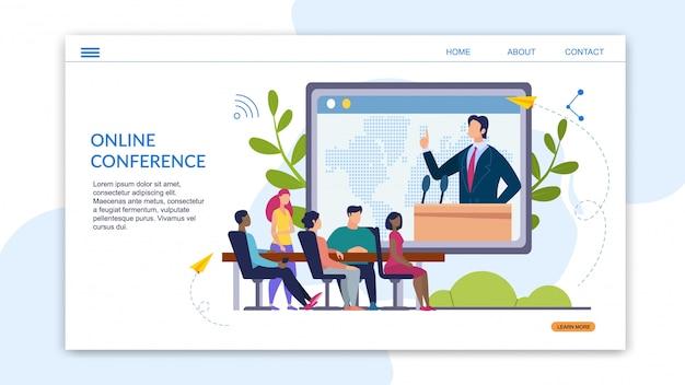 Advertentiebanner inscriptie online conferentie.