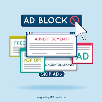 Advertentieblok popup-concept