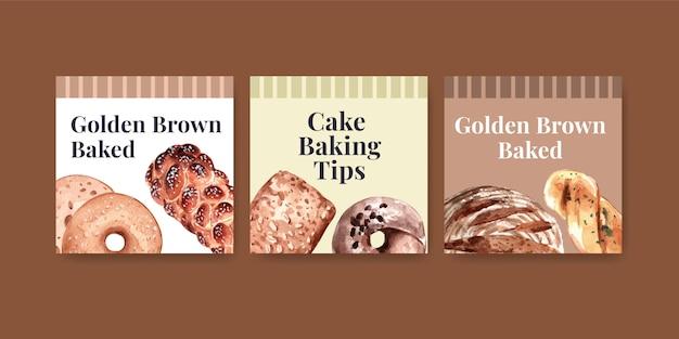 Advertentiesjablonen voor bakkerijverkopen
