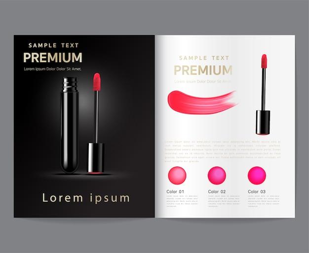 Advertentiesjablonen voor make-up, lippenstift