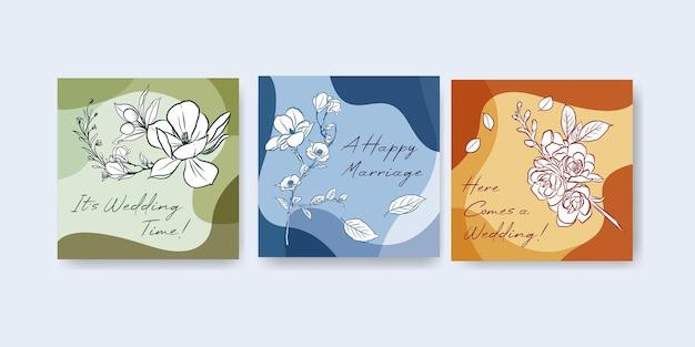 Advertentiesjabloon met huwelijksceremonie conceptontwerp voor adverteren en folder vectorillustratie.
