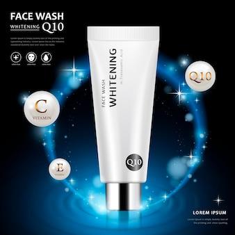Advertentiesjabloon voor gezichtswassing