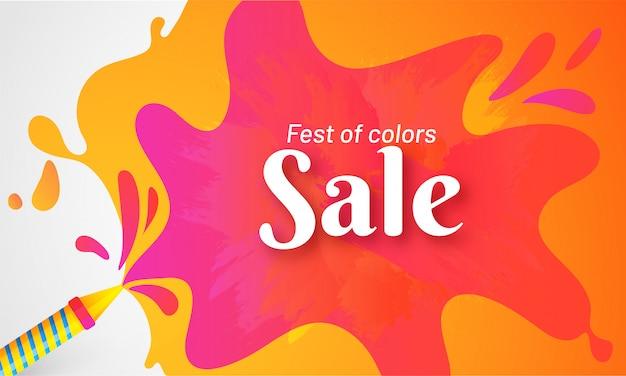 Adverteren poster of banner ontwerp voor holi festival celebratio