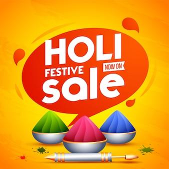 Adverteren posterontwerp met festival elementen op oranje backg