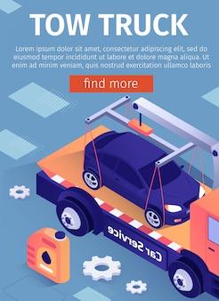 Adverteren sleepwagen car assistance service