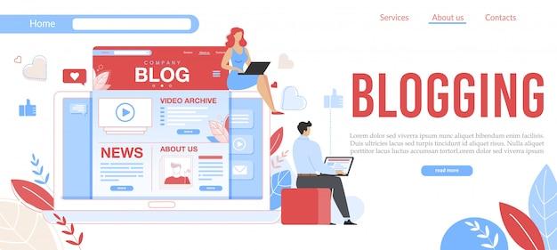 Adverteren succesvol zakelijk bloggen websjabloon