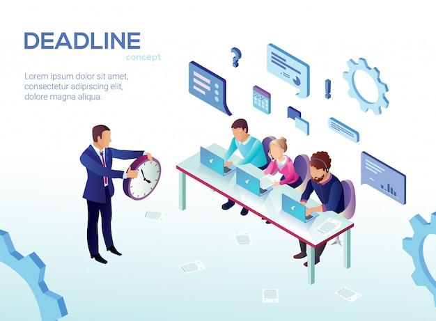 Adverterende vlieger is geschreven deadline cartoon.