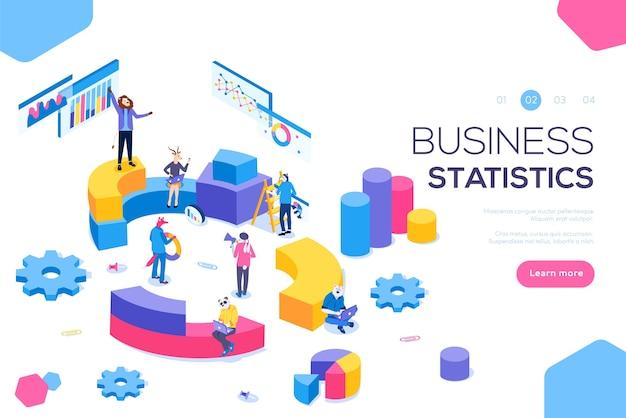 Advies voor bedrijfsprestaties, analyseconcept. statistieken en zakelijke verklaring.