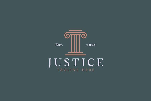 Adviseur recht en rechtvaardigheid bedrijfslogo