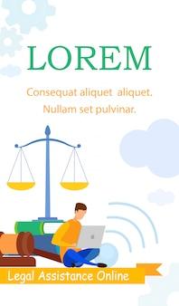 Advocaat, business school informatie flyer template