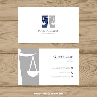 Advocaat kaartsjabloon
