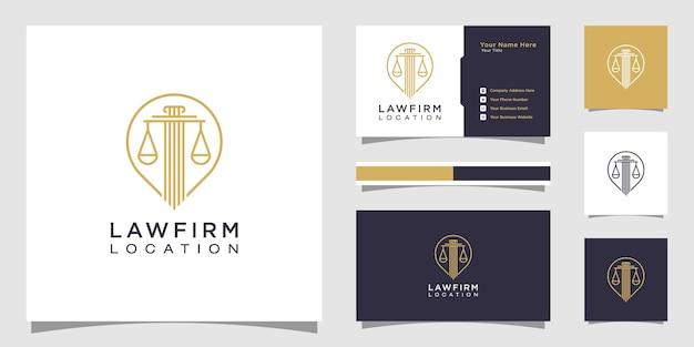 Advocaat locatie logo-ontwerp en visitekaartje
