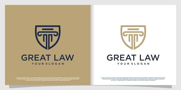 Advocaat-logo met creatieve elementstijl premium vector deel 1