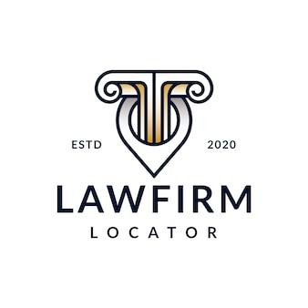 Advocatenkantoor locator logo ontwerp