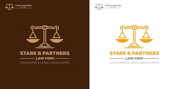 Advocatenkantoor pleit voor juridische adviseur logo-sjabloon