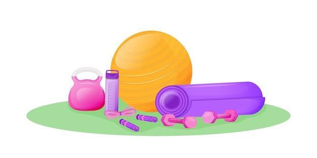 Aerobics versnelling platte concept illustratie