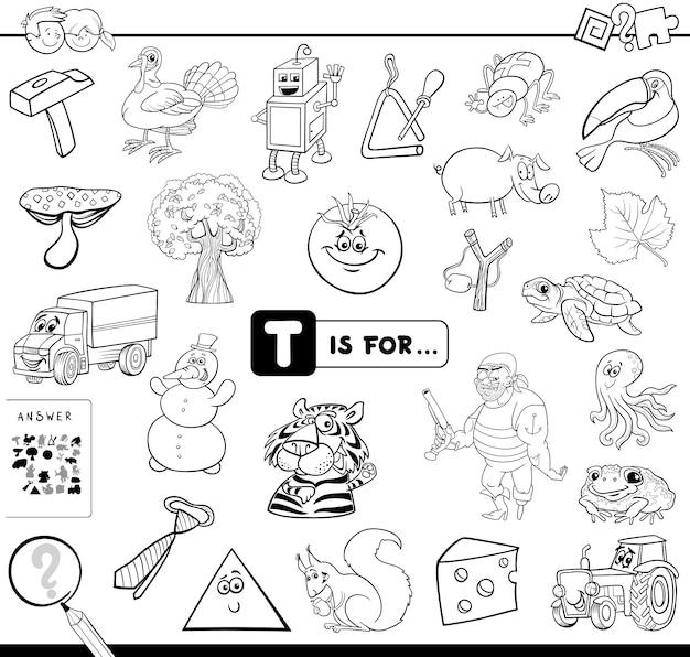 Afbeelding beginnend met letter t-spel