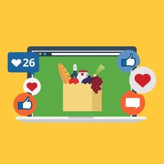 Afbeelding in sociale netwerken ontwerp