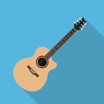 Afbeelding van akoestische gitaar, stijl illustratie