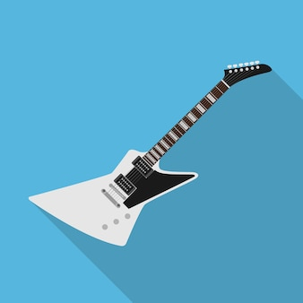 Afbeelding van elektrische gitaar, stijl illustratie