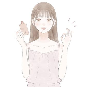 Afbeelding van het effect van cosmetica. op witte achtergrond.