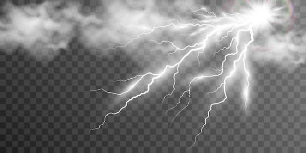 Afbeelding van realistische bliksem donderflits