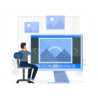 Afbeelding viewer concept illustratie