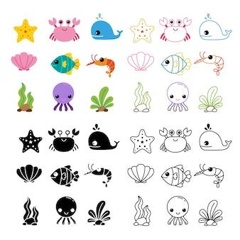 Afdrukbare collectie vector ontwerp
