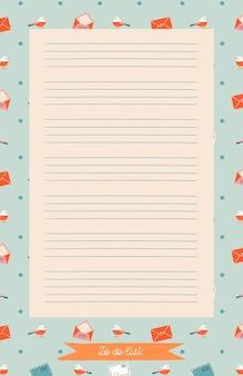 Afdrukbare planner, organisator. handgetekende winterversierde notities, to-do en to-buy-lijst.