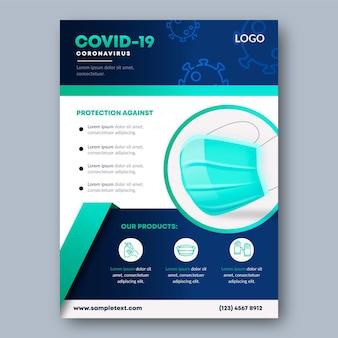 Afdruksjabloon voor medische producten van het coronavirus